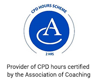 Provider of CPD hours certified by the Association of Coaching Logo